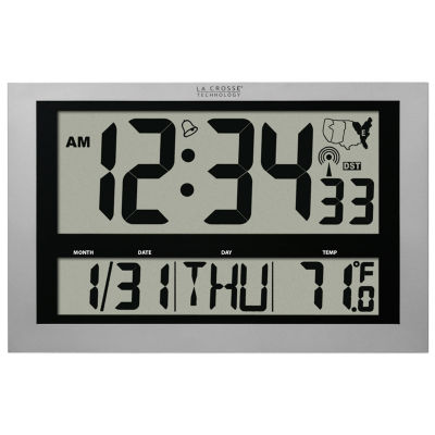 La Crosse Technology Jumbo Atomic Digital Wall Clock with IN Temp