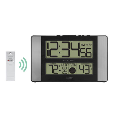 La Crosse Technology Atomic Digital Clock with Indoor and Outdoor Temperature