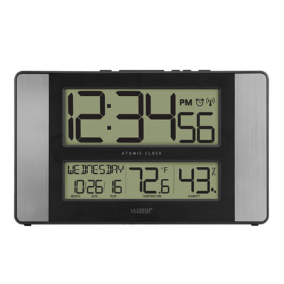 La Crosse Technology Atomic Digital Clock with Indoor Temperature & Humidity
