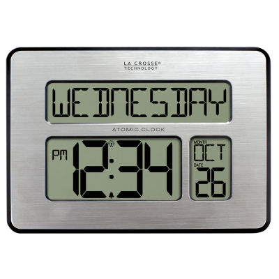 La Crosse Technology Backlight Atomic Full Calendar Clock