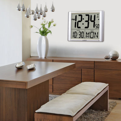 La Crosse Technology Atomic Extra-Large Digital Wall Clock with 7 Inch Time