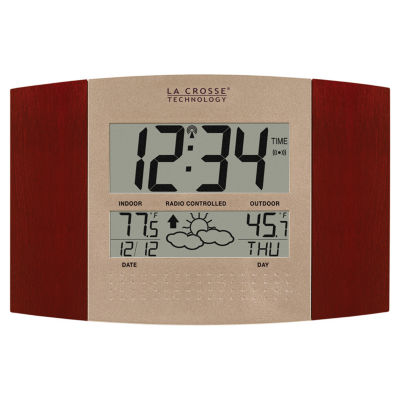 La Crosse Technology Atomic Clock with Weather Forecast