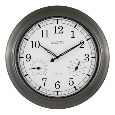 La Crosse Technology 18 Inch Indoor/Outdoor Thermometer & Hygrometer Wall Clock