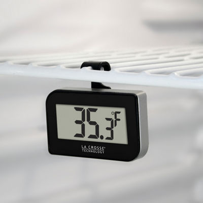 La Crosse Technology Digital Refrigerator-Freezer Thermometer with Hook