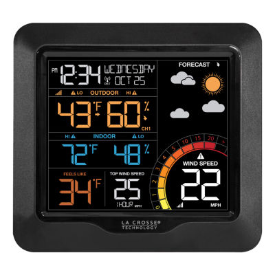 La Crosse Technology Color Wind Speed Weather Station with Wind & Outdoor Sensor