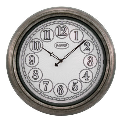 La Crosse 18 In Indoor/Outdoor Analog Lighted Dial Wall Clock in Antique Nickel finish