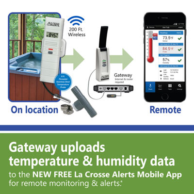La Crosse Alerts Wireless Monitor System with Hot Tub Accessory Set