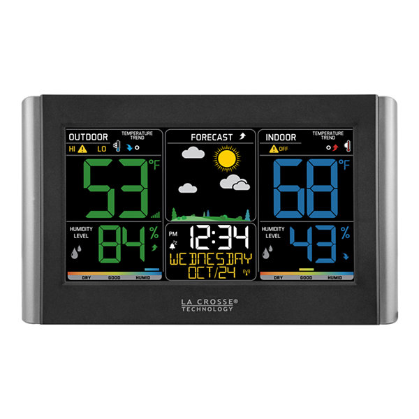 La Crosse Technology Wireless Forecast Station with Colored LCD Display