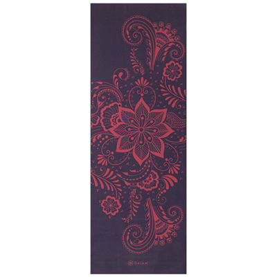 Gaiam 6MM Aubergine Swirl Yoga Mat