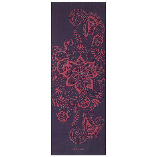 Gaiam 6MM Aubergine Swirl Yoga Mat