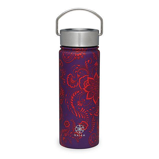 Gaiam 18oz Aubergine Swirl Water Bottle