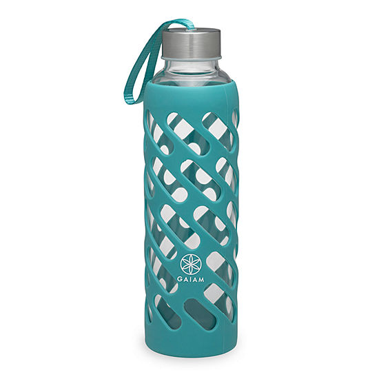 Gaiam 20oz Sure Grip Viridian Water Bottle