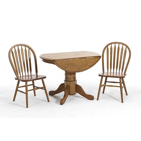 Oakmont 3 Pc Dining Set, Color: Chestnut