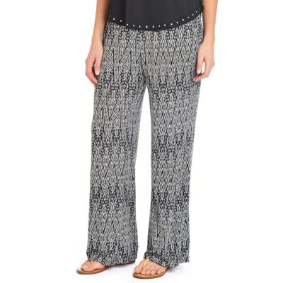 NY Collection Elastic Waist Printed Pant