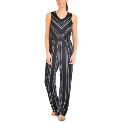 NY Collection Printed Sleeveless Jumpsuit