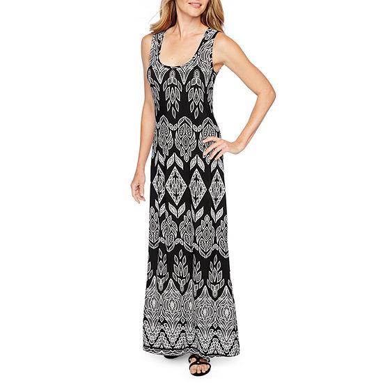 Ronni Nicole Sleeveless Puff Print Maxi Dress