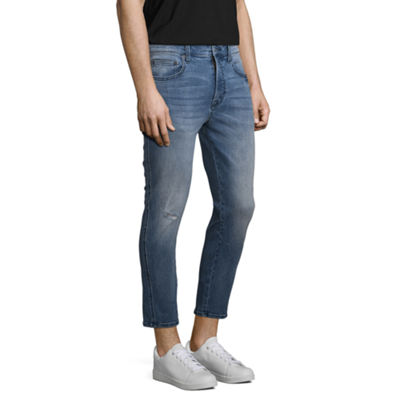 Arizona Mens Skinny Cropped Jean