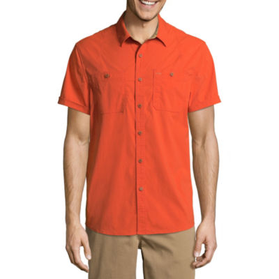 Boston Traders Short Sleeve Button-Front Shirt