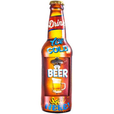 """Ice Cold Beer"" Metal Bottle Opener"