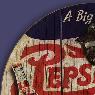 Pepsi Cola Bottle Opener Cap Catcher Wall Decor
