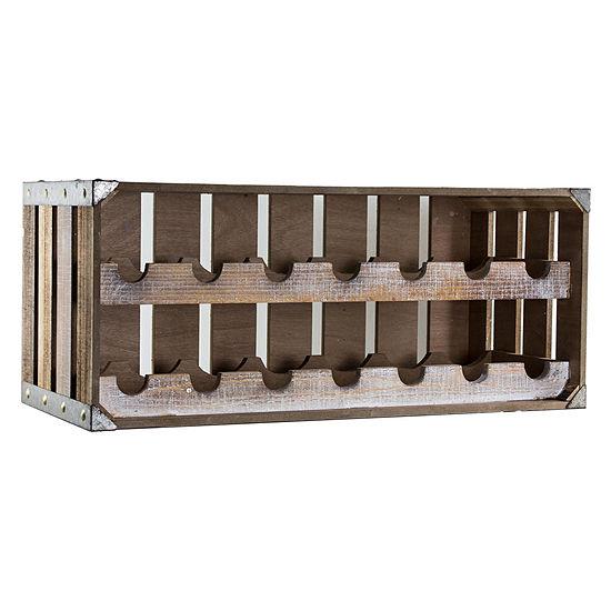 Rustic Wooden Crate 14 Bottle Wine Rack