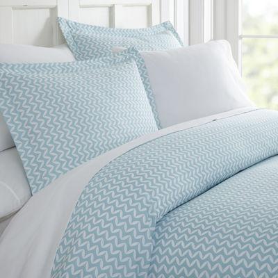 Casual Comfort Premium Ultra Soft 3 Piece Puffed Chevron Print Duvet Cover Set