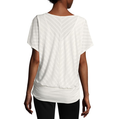 Alyx Short Sleeve V Neck Knit Blouse