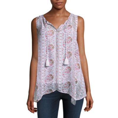Liz Claiborne Sleeveless Floral Tunic Top