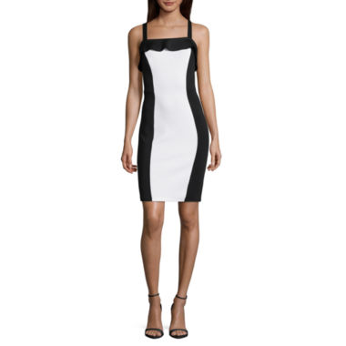 Best of Project Runway All Stars Sleeveless Colorblock Bodycon Dress
