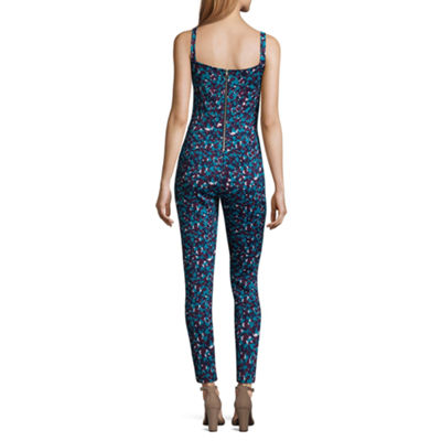 Best of Project Runway All Stars Sleeveless Printed Jumpsuit