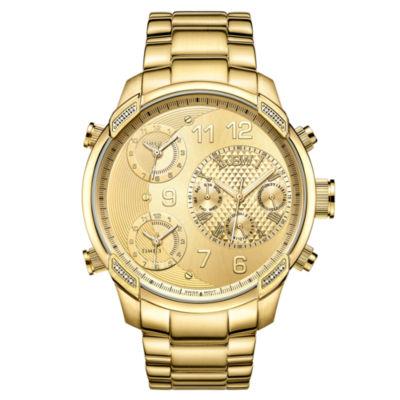 JBW 16 Diamonds At 0.16 Ctw Mens Gold Tone Bracelet Watch-J6248l