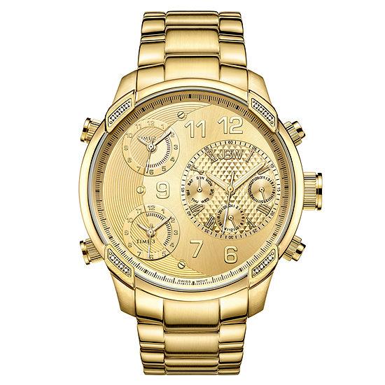 JBW 18K Gold Over Stainless Steel 1/6 CT. T.W. Genuine Diamond Bracelet Watch-J6248l