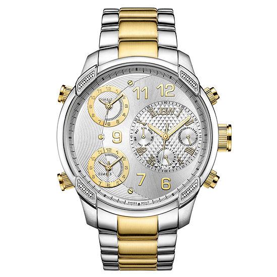 JBW 18K Gold Over Stainless Steel 1/6 CT. T.W. Genuine Diamond Bracelet Watch-J6248m