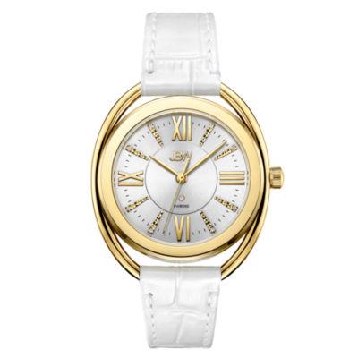 JBW 1 Diamond At .01ctw Womens White Strap Watch-J6357b
