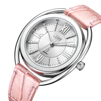 JBW 1 Diamond At .01ctw Womens Pink Strap Watch-J6357c