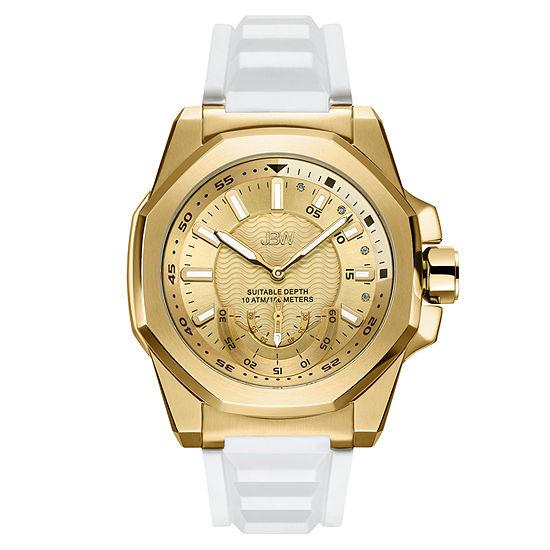JBW Genuine Diamond Accent Mens White Strap Watch-J6359e