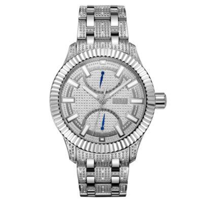 JBW 50 Diamonds At .50ctw Mens Silver Tone Bracelet Watch-J6363a