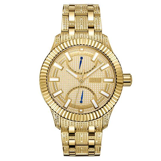 Jbw 50 Diamonds At 50ctw Mens Gold Tone Bracelet Watch J6363b