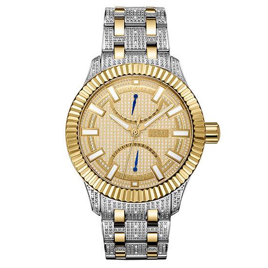 JBW 18K Gold Over Stainless Steel 1/2 CT. TW. Genuine Diamond Bracelet Watch-J6363c