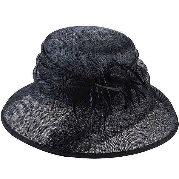 Scala Sinamay Derby Hat