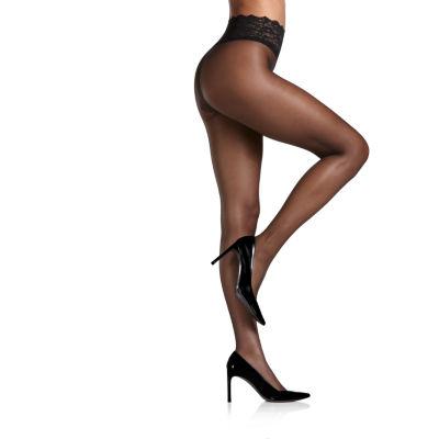 Berkshire Hosiery Lace Waist Pantyhose- Plus