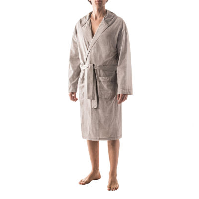 Residence Microstripe Hooded Robe