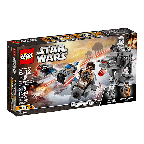 Lego Star Wars Ski Speeder Vs First Order Walker Microfighters 75195