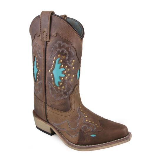 Smoky Mountain Kid's Moon Bay Distress Leather Cowboy Boot