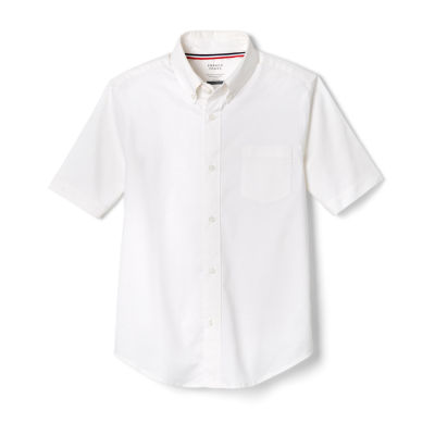 French Toast Boys 4-20 Short Sleeve Uniform Oxford Dress Shirt- Regular & Husky