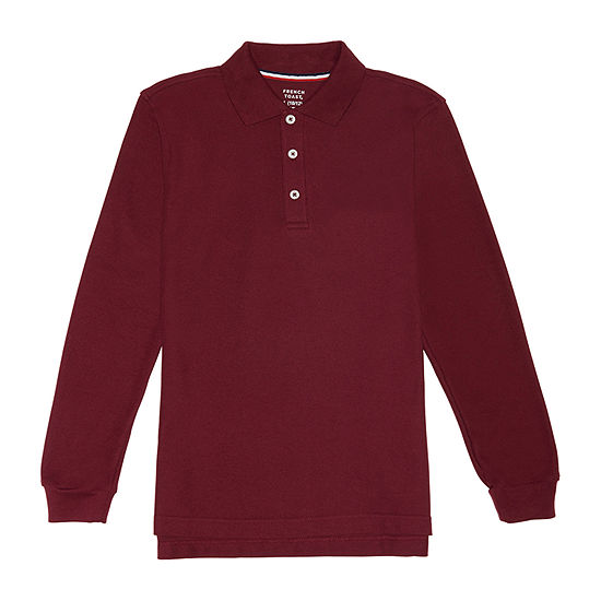 French Toast - Big Kid Boys Long Sleeve Polo Shirt