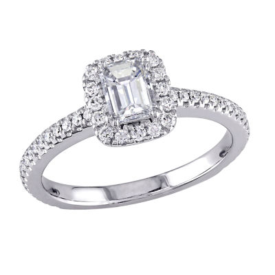 Womens 7/8 CT. T.W. Genuine White Diamond 14K White Gold Engagement Ring