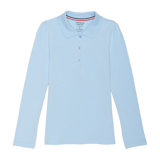 French Toast Girls Spread Collar Short Sleeve Polo Shirt