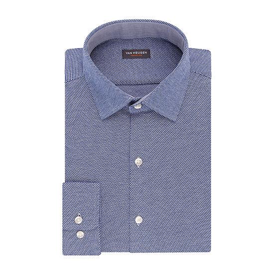 Van Heusen Traveler Knit Slim Fit Long Sleeve Knit Dress Shirt - Slim