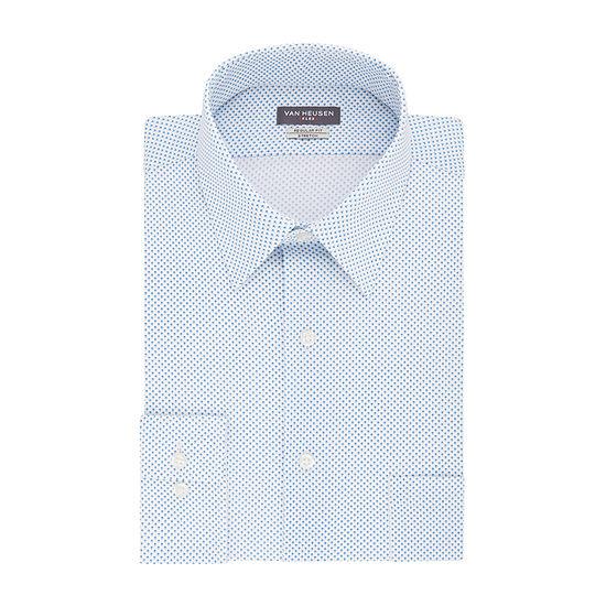 Van Heusen Flex Stretch Long Sleeve Broadcloth Pattern Dress Shirt - Big and Tall